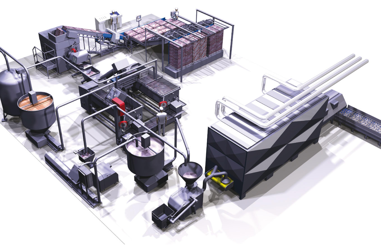 linea di produzione carne